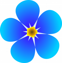 art flowers pictures | Single Forget Me Not Flower - Free Clip Art ...