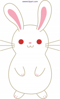 Cute White Bunny Rabbit Clipart - Sweet Clip Art