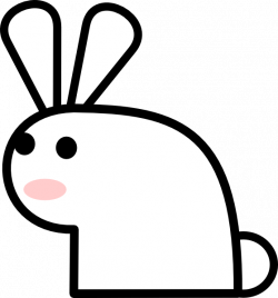 Rabbit Clip Art at Clker.com - vector clip art online, royalty free ...