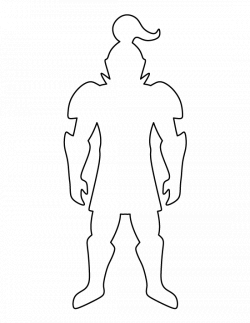 Knight pattern. Use the printable outline for crafts, creating ...