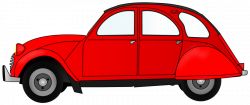 2CV red car Clipart Large Size | 2CV | Pinterest