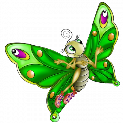 Very Colourful Butterfly Cartoon Images. All Images Are On A ...