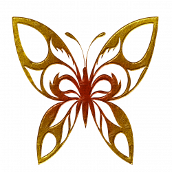 Butterfly Golden Clipart PNG - PHOTOS PNG