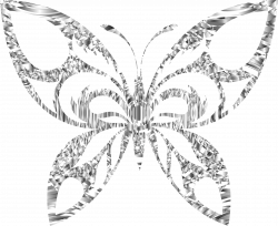 Clipart - Diamond Tribal Butterfly Silhouette