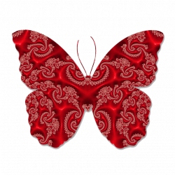 Butterfly Red Lace transparent PNG - StickPNG