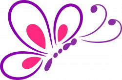 Clipart - Butterfly Line Art 2