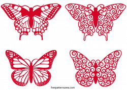 Butterfly Clipart Vector Art Files | Cutting files, Cuttings and ...