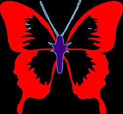 Red Mid Butterfly Clip Art at Clker.com - vector clip art online ...