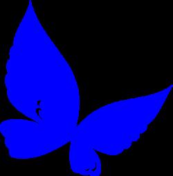 Blue.butterfly Clip Art at Clker.com - vector clip art online ...
