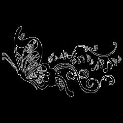 vinilos de mariposas y flores - Buscar con Google | Music Notes ...