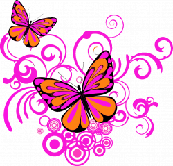 Butterflies and Swirls in | Clipart Panda - Free Clipart Images