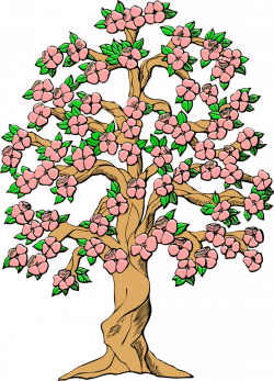 Spring Flowers and Tree Clip Art – Free Cliparts