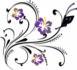 Flowers And Butterflies Border Clipart   Free download best Flowers ...