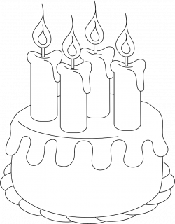 28+ Collection of Birthday Cake Clipart Black And White Transparent ...