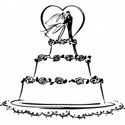 Cake clipart simple - Pencil and in color cake clipart simple