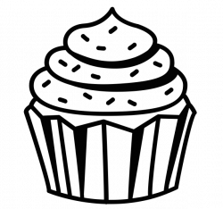 Cupcake Drawing Black And White at GetDrawings.com   Free for ...