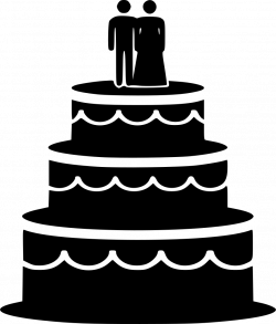 Biscuit Cake Food Pastry Sweetness Groom Bride Svg Png Icon Free ...