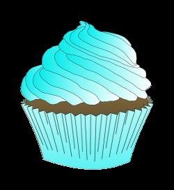 Clipart - Chocolate Teal Cupcake