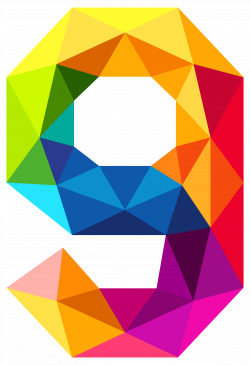 Colourful Triangles Number Nine PNG Clipart Image | NINE9 ...