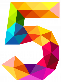 Colourful Triangles Number Five PNG Clipart Image | Gallery ...