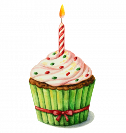 Birthday cake Watercolor painting Clip art - Drawing a small ...
