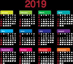 2019 Calendar Transparent PNG Clip Art | Gallery Yopriceville ...