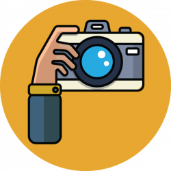 710 cartoon illustration of hand with camera | Clip Art from OldCuts ...