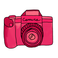 Camera clipart red - Pencil and in color camera clipart red