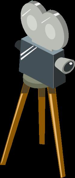 Clipart - Cartoon movie camera