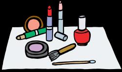 Cartoon Makeup Clip Art | Trends For > Putting On Makeup Clip Art ...