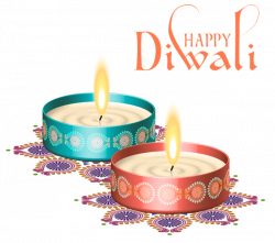 Happy Diwali Nice Candles PNG Clipart Image