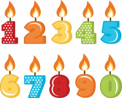 Number one candle Vector Image - Clip Art Library