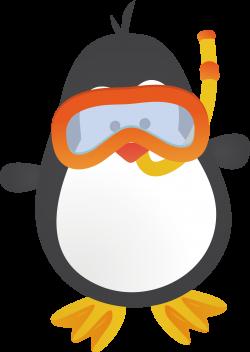 Penguin Cartoon Animation Clip art - Diving penguins 1836*2587 ...