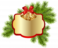 Christmas Blank Decor with Bells PNG Clipart Image | Labels ...