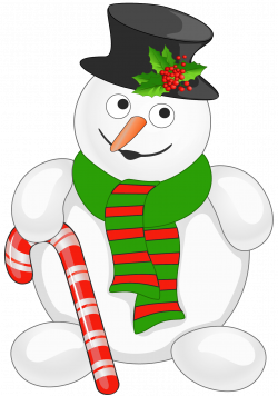 Snowman with Candy Cane PNG Clipart   Gallery Yopriceville - High ...