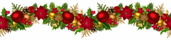 Christmas Decorative Garland PNG Clip Art Image | Christmas clipart ...