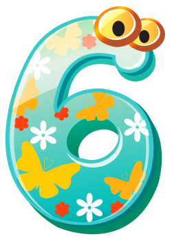 Cute Numbers | Number Six Clipart Cute number six clipart image ...