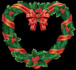 Transparent Christmas Heart Wreath PNG Clipart | Decoracion navideña ...