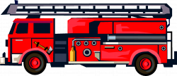 Fire truck clipart black and white free clipart - Clipartix