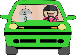 Clipart - Driving