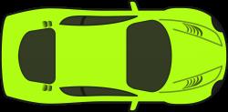 Clipart - Bright Green Racing Car (Top View)