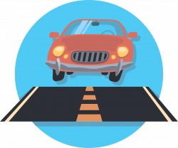 Clipart - Car And Road Icon