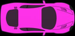 Clipart - Pink Racing Car (Top View)