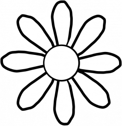 flower clipart black and white clipart spring flowers black and ...