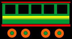 Clipart - Railway carriage (colour)