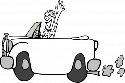 28+ Collection of Car On Road Clipart Black And White | High quality ...