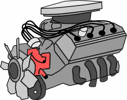 Clipart - combustion engine