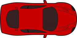 Clipart - Red racing car top view