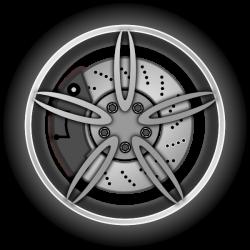 Wheel Clip Art at Clker.com - vector clip art online, royalty free ...