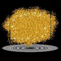 Desktop Wallpaper Gold Clip art - cross star gold powder 3402*3402 ...